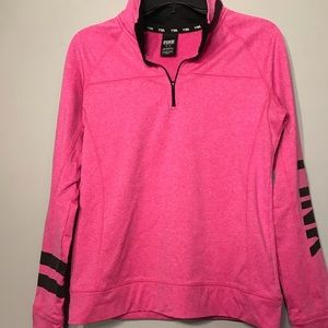 PINK 1/4 zip athletic pullover